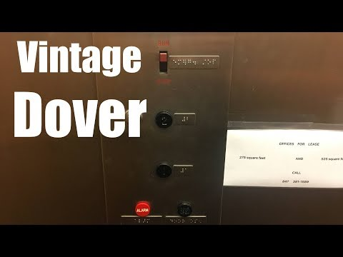 Awesome Vintage Dover Hydraulic Elevator @ 202 S Cook St - Barrington - IL