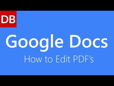 How to Edit a PDF | Google Docs Tutorial