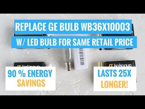 Replace GE WB36X10003 Microwave Light Bulb w/ LED Bulb & SAVE MONEY $$$$!