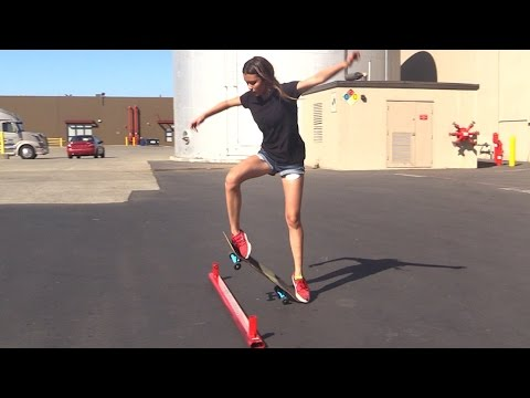 GIRL LEARNS HER FIRST SKATEBOARD TRICKS |  EP 3 OLLIE FIRST STEPS