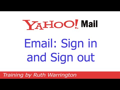 Yahoo! Mail 2014 - How to sign in and sign out