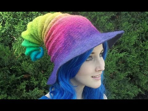 Rainbow Witch Hats from HandiCraftKate!