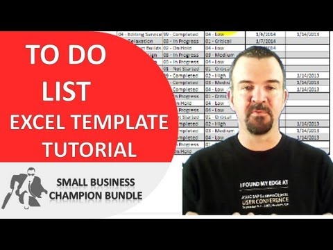 To Do List Excel Template - Printable Weekly Templates