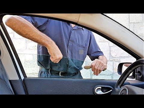 Como reparar cristal puerta auto carro, provisional