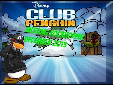 Club Penguin- Meeting Rockhopper/Visiting his igloo