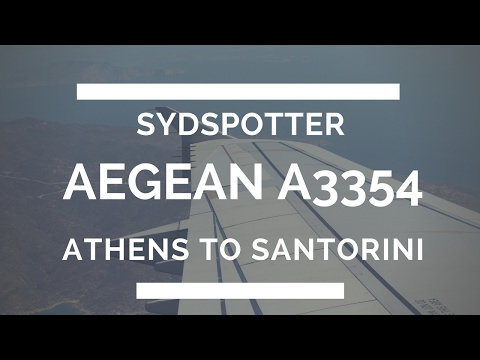 *NEW* AEGEAN AIRLINES TRIP REPORT ATHENS-SANTORINI