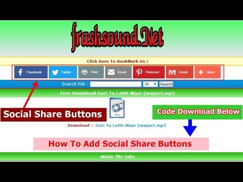 How to make social share buttons add any website facebook, whatsapp share buttons