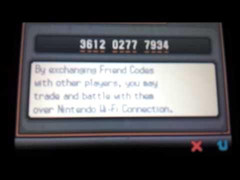 My Pokemon White Version 2 friend code