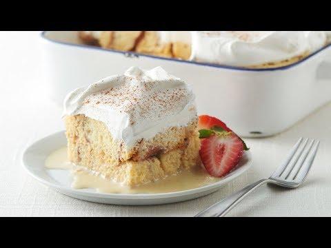 Overnight Cinnamon Roll Tres Leches Cake | Pillsbury Recipe