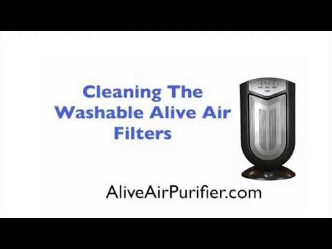 Alive Air Purifier - Cleaning The Washable Filters