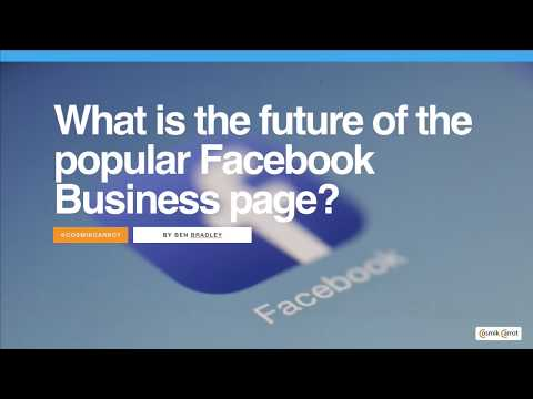 What is the future of the popular Facebook Business page?