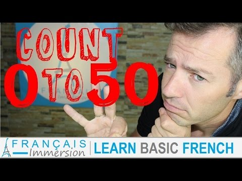 French NUMBERS 1-50 Counting/Chiffres/Nombres + FUN! (Learn Basic French with Funny French Lessons)