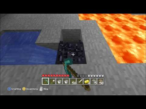 Minecraft Xbox 360: Ep:13- How to Make Obsidian!!