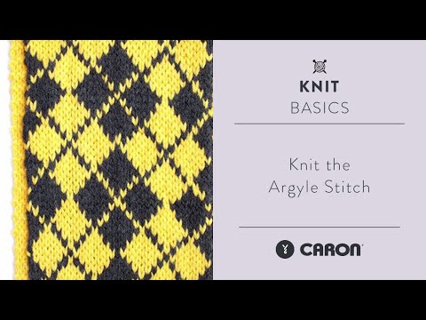 How To Knit the Argyle Stitch