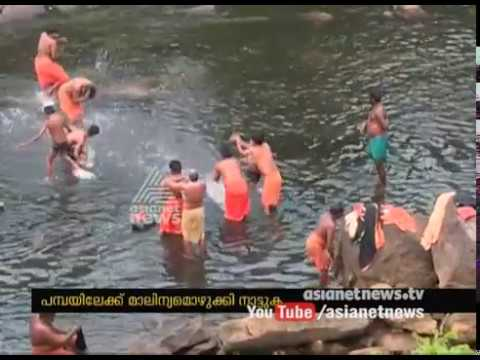 Natives Dumping wastes to rivers causing the pollution of Pamba