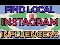 How to find local Instagram influencers
