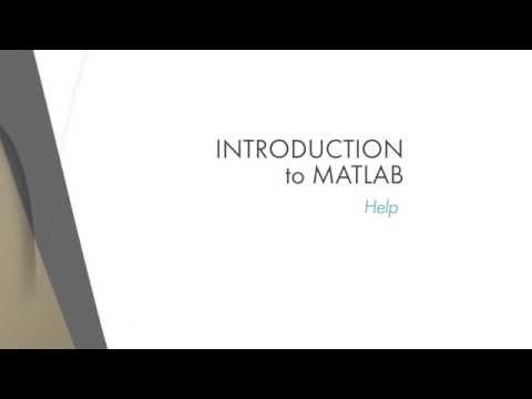 Lesson 1.6:The MATLAB Help System