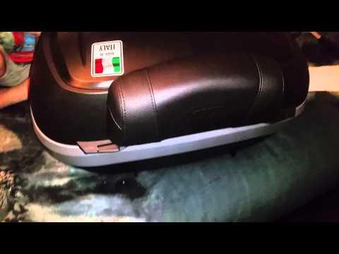 GIVI V47 TECH MONOKEY topcase backrest install