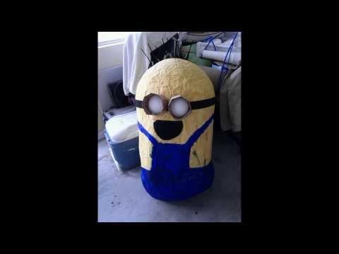 Despicable Me Minion DIY Paper Mache Costume $30