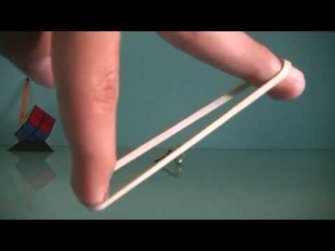 Shooting a picece of paper with rubber band only:what to do when bored2