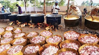 Cooking 500KG MUTTON BIRYANI For 3000 Peoples   WORLD FAMOUS AMBUR MUTTON BIRYANI