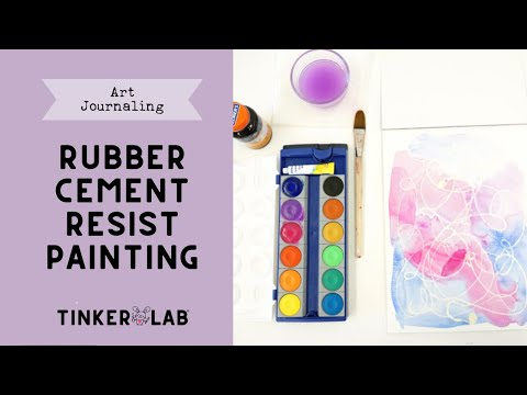 How to: Rubber Cement Resist with Watercolor Paint