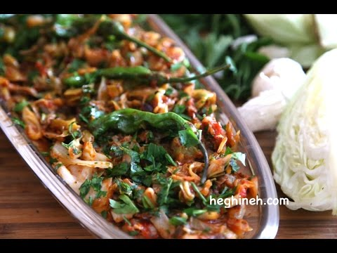 Sauteed Cabbage Recipe - Healthy Easy Vegetarian Recipes - Heghineh Cooking Show