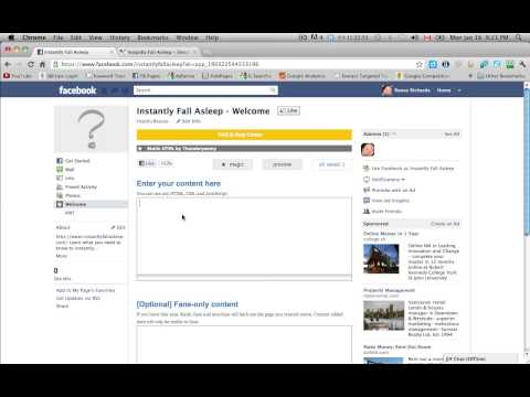 Creating Extra Tabs (Pages) in Facebook