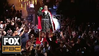 Tyson Fury's eccentric Ring Walk in preparation of his fight with Deontay Wilder   PBC ON FOX