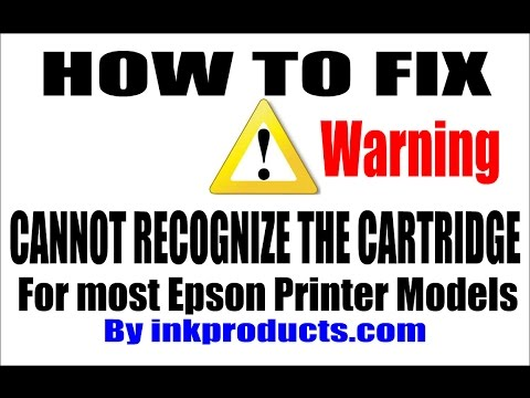 How To Repair (Cannot Recognize The Cartridge) for Epson Printers