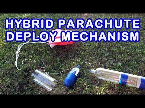 Water Bottle Rocket Hybrid Parachute Deploy Mechanism Tutorial