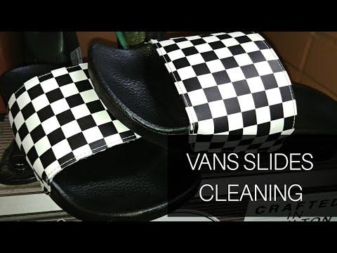 Cleaning Vans Checkered Slides/Flipflops