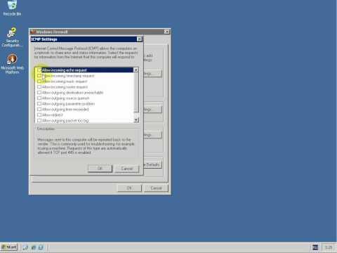 Windows server 2003 firewall ping