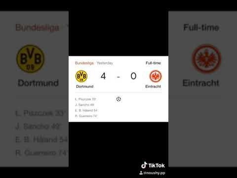 Borussia Dortmund vs Eintracht Frankfurt  final score board
