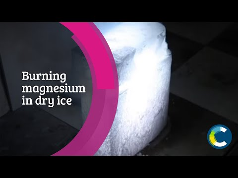 Burning magnesium in dry ice