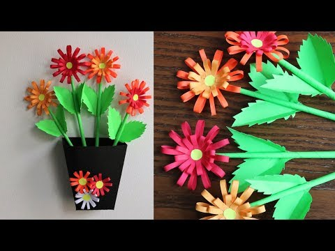 How To Make Paper Flowers -  DIY Home Decoration Idea  - Paper Craft