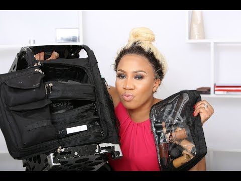 WHAT'S  IN MY FREELANCE MAKEUP KIT /BAG/NIGERIAN WEDDINGS/ZUCA BAG