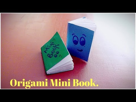 Easy Mini Origami Notebook Tutorial : How To Make A Paper Notebook Step By Step