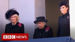 Royals and politicians mark Remembrance Sunday - BBC News