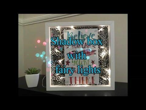 EASY DIY  ROOM DECOR - SHODOW BOX WITH FAIRY LIGHTS