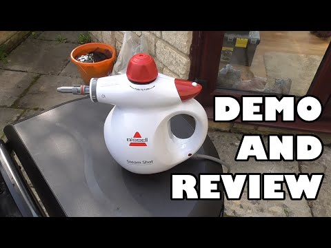 Will it clean my barbeque? Bissell Steam Shot 2635 series steam cleaner review and demo