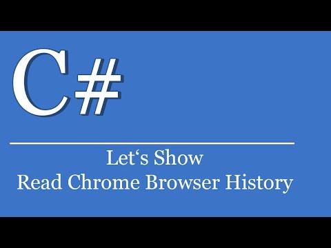 Let's Show #189 - C# Visual Studio .NET Tutorial - Read Google Chrome Browser History | SQLite