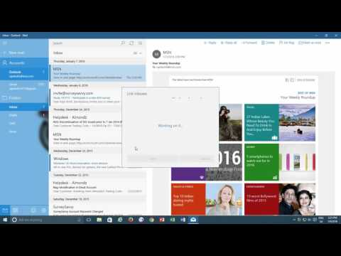 How to Link Multiple Inboxes in Mail App | Windows 10 Tutorial | The Teacher