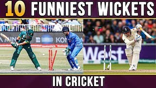 10 Funniest Wickets in Cricket | Simbly Chumma