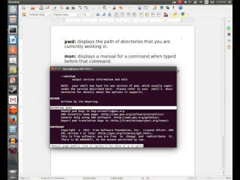 Ubuntu 14.04 How to use the terminal part 1