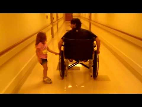 jamie and brennan wheelchair @ the hospital part 1