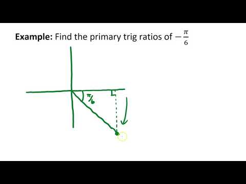 Example: Primary Trig Ratios Using Rotational Angles (Rads)