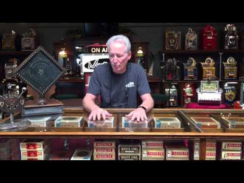 Antique Cigar display case oak for sale