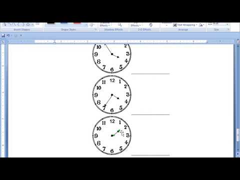 How to Insert Clock Symbols in Microsoft office 2007