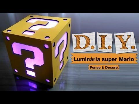 DIY - Luminária Super Mario block question